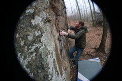 Rock Climbing Photo: warming up the 'ol fangers