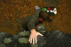 Rock Climbing Photo: Topping out on Fire Crack Flake (gotta love those ...