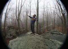 Rock Climbing Photo: Foggy December mornin' at the Fort!