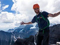 Rock Climbing Photo: Myself on top of Niblock in the Canadian Rockies