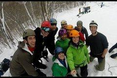 Rock Climbing Photo: Ice climbing New Hampshire, Frankenstein cliffs