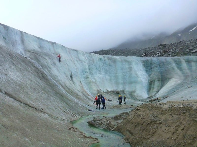 Ice climbing glacier toe AK eastern Alaskan range