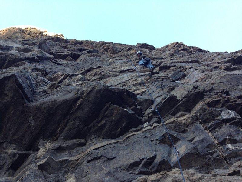 Rock Climbing Photo: Jay ticking Fleas.