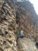 Rock Climbing Photo: Wendel pulling through the crux of Milk Bone
