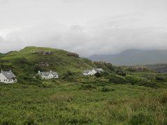 Rock Climbing Photo: Damp day Isle of Mull
