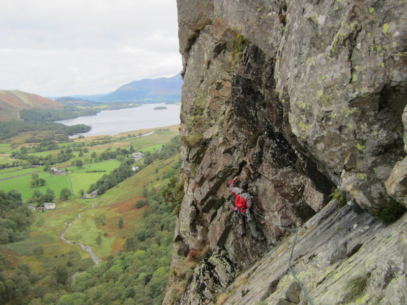 Climbing on Black Crag . Lake District