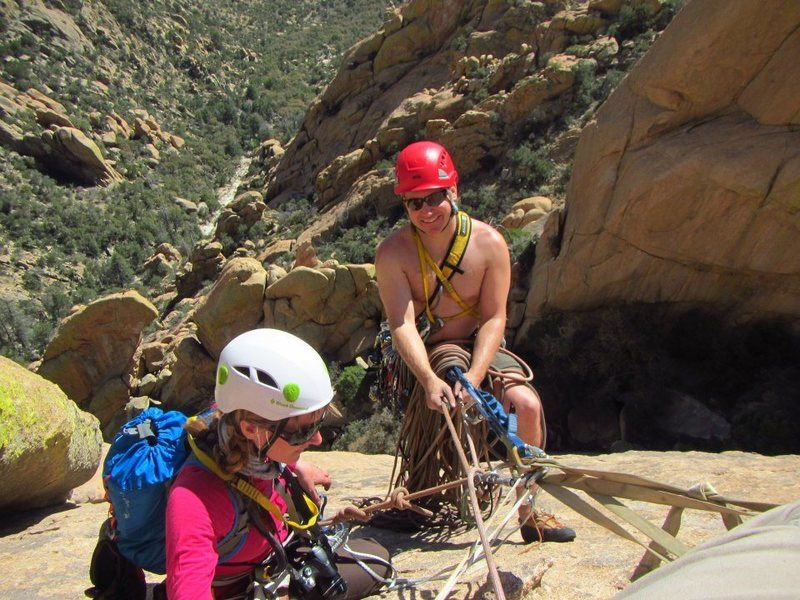 Rock Climbing Photo: Guiding my friends in Cochise Stronghold