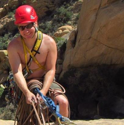 Rock Climbing Photo: Happy on a multi-pitch