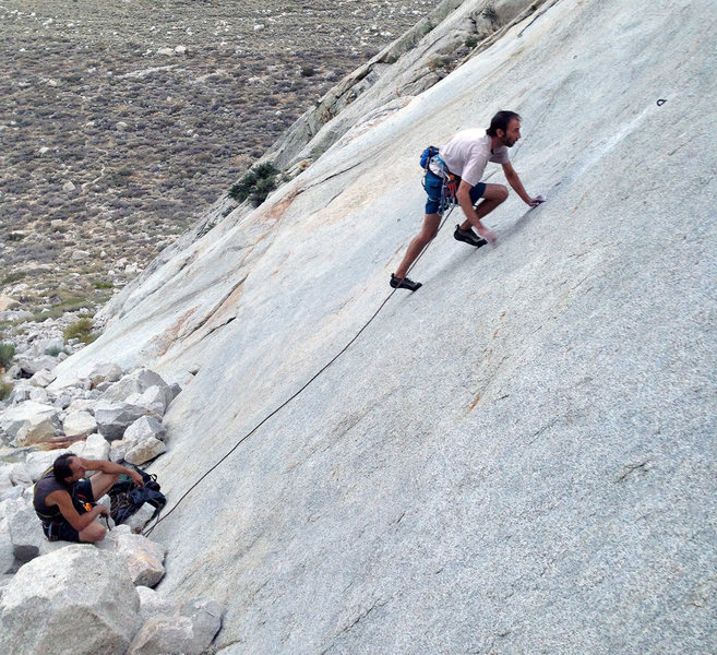 Rock Climbing Photo: Tai focusing on the prize - FA of 'Too Many Rules'