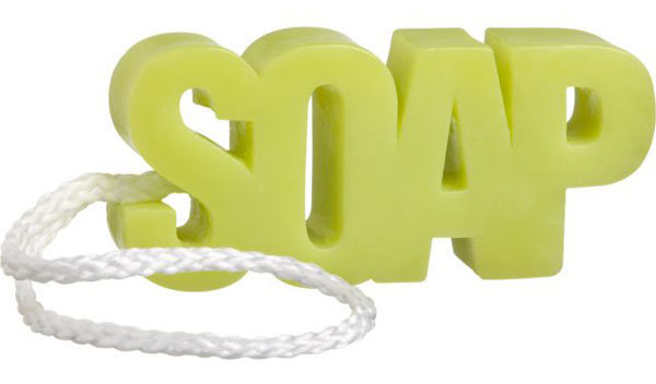 Soap on a rope?