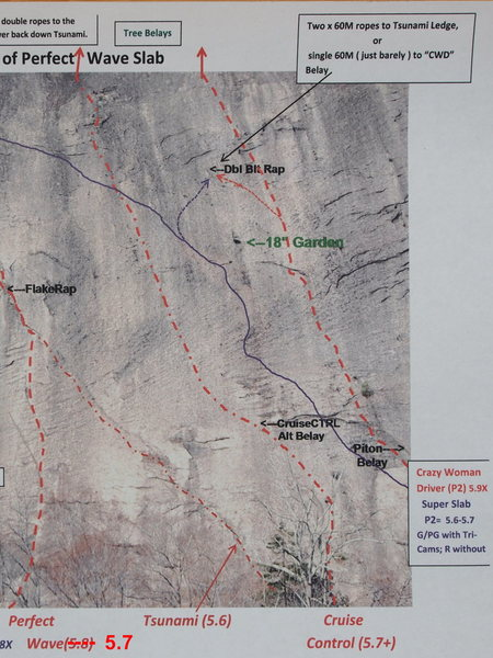 Rock Climbing Photo: Route Photo - Cruise Control and Detail of climbs ...
