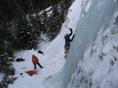 Rock Climbing Photo: Tim leading Mummy Cooler I
