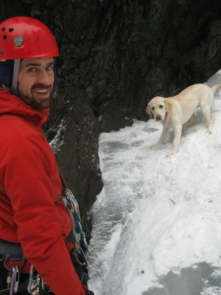 Rock Climbing Photo: Frida puppy looking for a spot after realizing tha...
