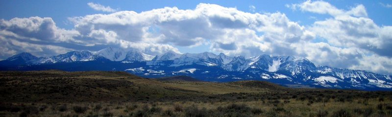 Rock Climbing Photo: Northern Bridgers from the Shields Valley.