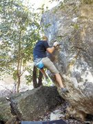 Rock Climbing Photo: Alex on its dangerous business stepping out your f...