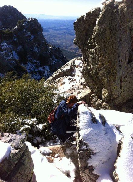 Rock Climbing Photo: approach Browns Peak AZ