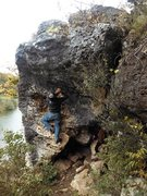 Rock Climbing Photo: Future boulder route i am working on at blue hole ...