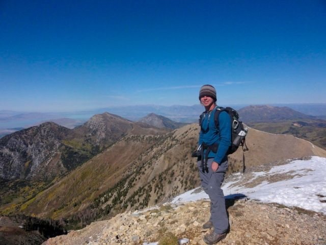 standing atop of MT. NEBO. tallest peak in the Wasatch.