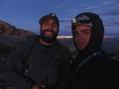Rock Climbing Photo: selfie on windy peak after a full day of climbing ...