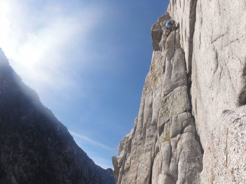 beautiful day climbing in LCC