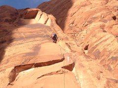 Rock Climbing Photo: Lynn going ground up!