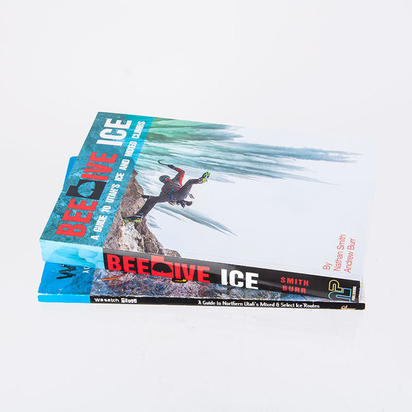 The New Beehive Ice Guidebook compared to Wasatch Mixed. 464 pages of cold, icy fun