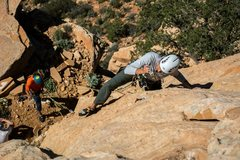 Rock Climbing Photo: start of second pitch
