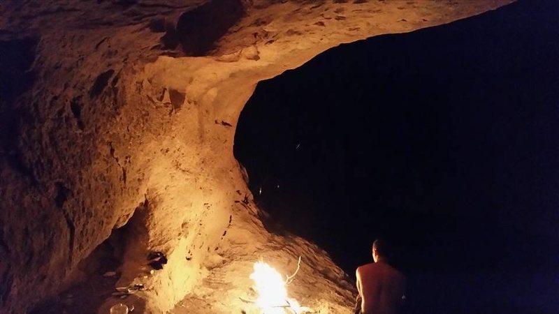Rock Climbing Photo: Camping cave