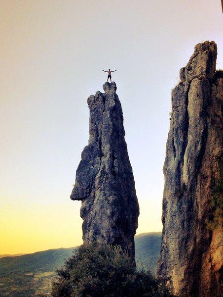 Climbing in Etxauri