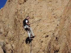 "Rock Climbing Photo: With the P1 anchor of ""Aqua Negro"" MIA, ..."