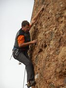 """Rock Climbing Photo: In the moment on """"Spur of the Moment."""""""