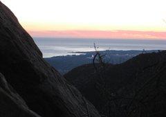 Rock Climbing Photo: Nice view towards Santa Barbara.