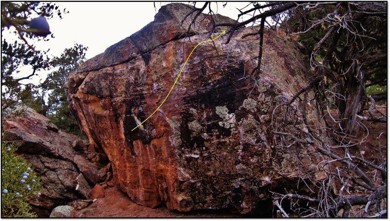 Rock Climbing Photo: Administratium problem beta.
