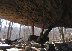 """Rock Climbing Photo: """"This American Life"""" (v7/8 FA). 25ft of ..."""