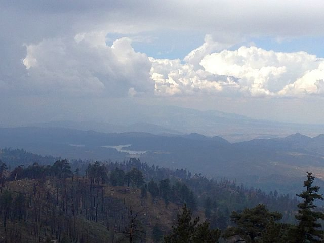 Silverwood Lake from near Crafts Peak, San Bernardino Mountains