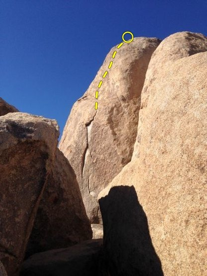Rock Climbing Photo: Mr. Bunny Meets the Expando Flake (5.10b R), Joshu...