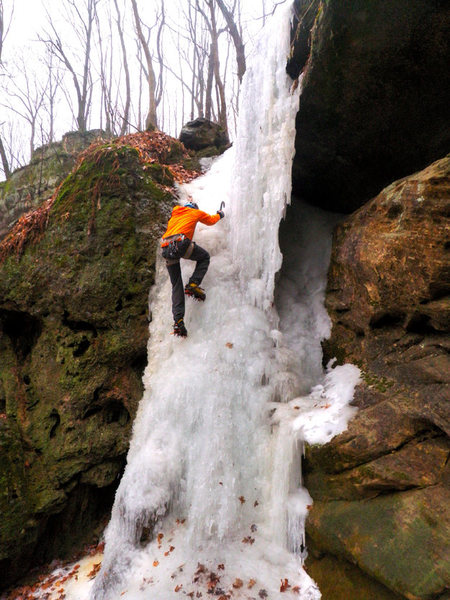 Rock Climbing Photo: Cox Hollow Right side 12/13/14
