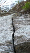 Rock Climbing Photo: The hand crack start to Whitewater Crack. Exit to ...