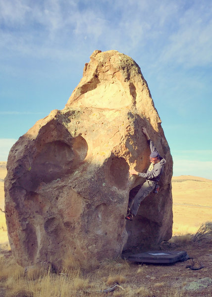 Rock Climbing Photo: On the V4 problem