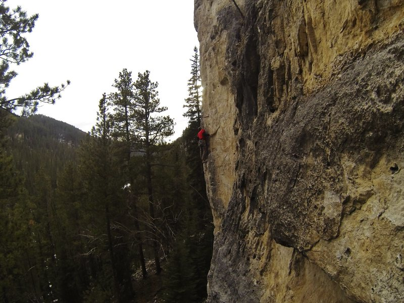 Rock Climbing Photo:  Setting up for the best Zephyr moves.            ...