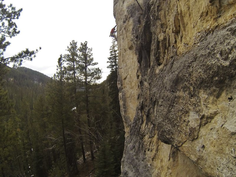 Zephyr II, 5.12a. The Thunderhead.