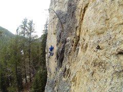 Rock Climbing Photo: Eric on Katabatic Cataclysm, 5.11b