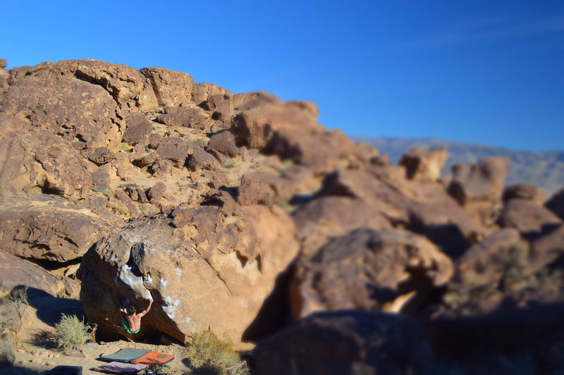 Rock Climbing Photo: Slap Happy, Happy Boulders. A perfect day in the T...