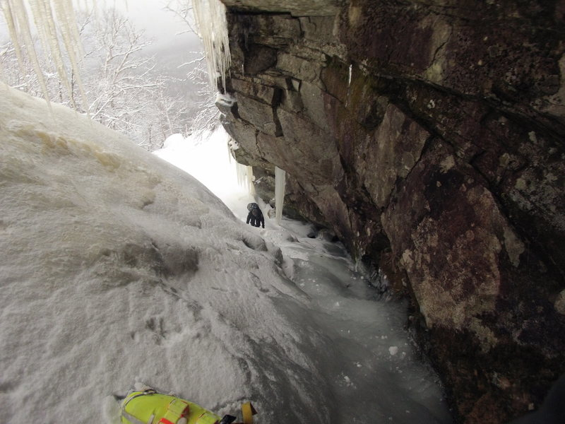 Rock Climbing Photo: Finding ice in the caves...