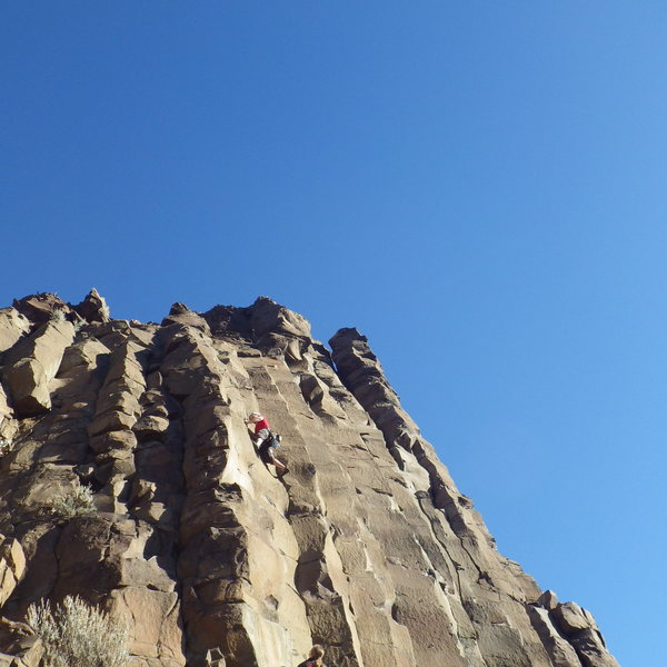 Rock Climbing Photo: Partway up the route, beautiful December day!