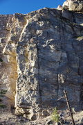 Rock Climbing Photo: The left end of the North Wall (with the pair of m...
