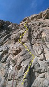 Rock Climbing Photo: Follow the arete.