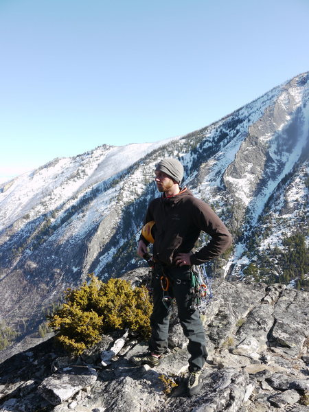Atop Shoshone Spire, Blodgett Canyon
