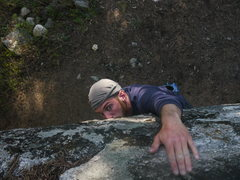 Rock Climbing Photo: topping out a campground boulder
