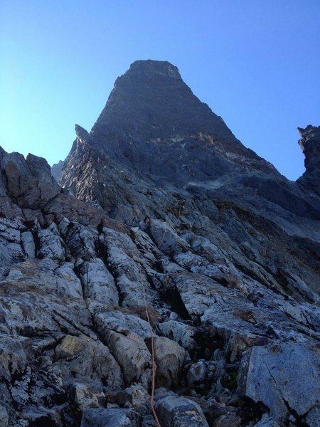 early on mt. slesse's neb